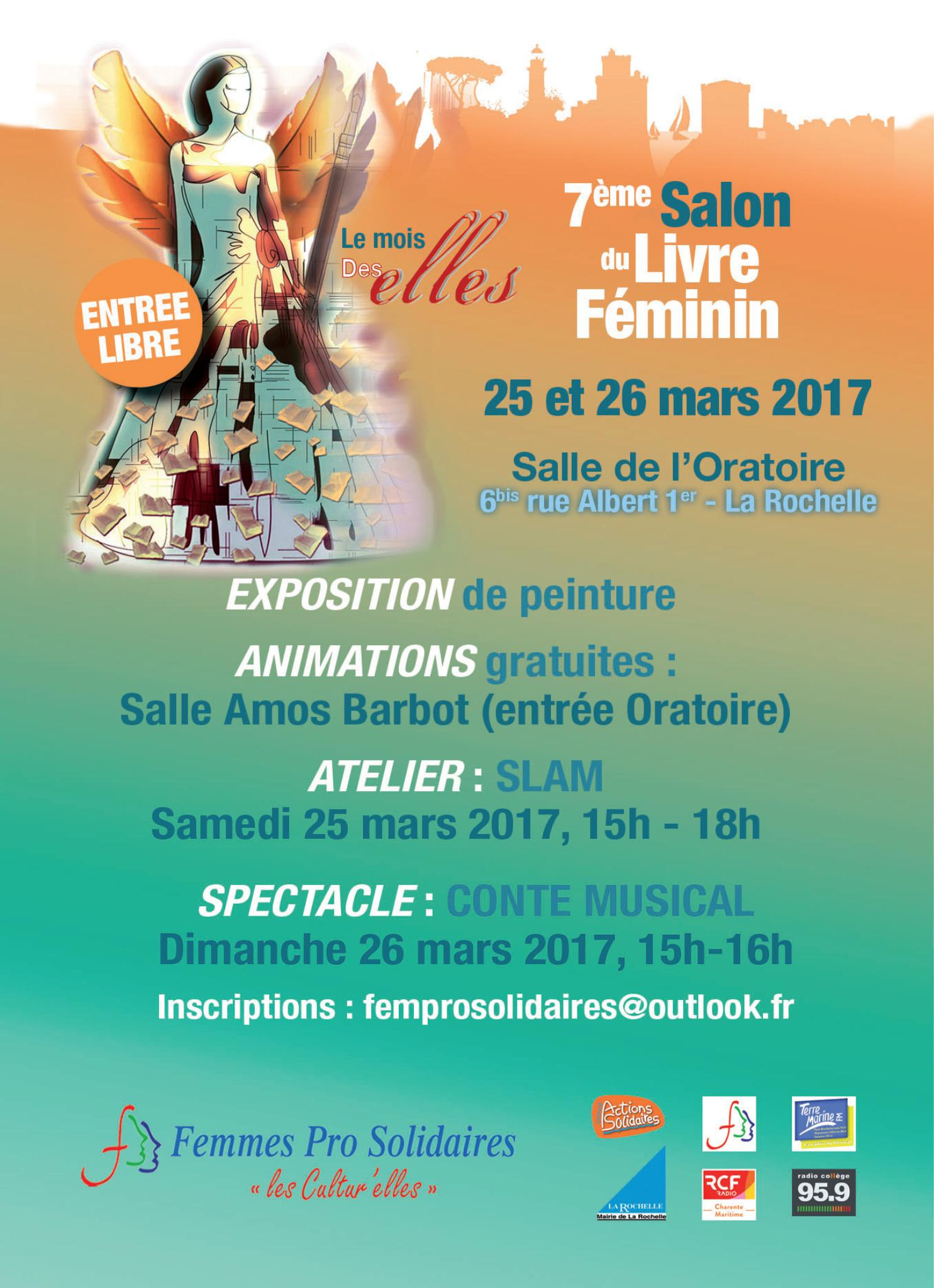 Programme salon 2017 salon international du livre de femmes for Programme salon de l agriculture 2017